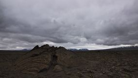 A fissure on a lava field. Iceland. royalty free stock photo