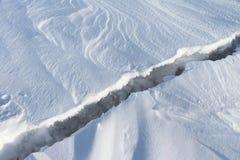 Fissure sur la glace Photo libre de droits