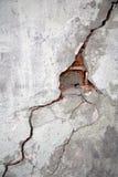Fissure sur un mur Photo libre de droits