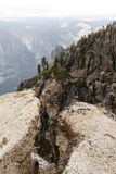 Fissure on Taft Point. Yosemite Stock Photos