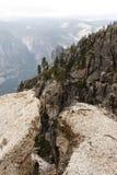 Fissure on Taft Point. Yosemite. Fissure on Taft Point ,National Park Yosemite,California,USA Stock Photos