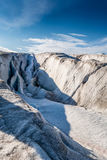 Fissure in top surface of a glacier Stock Photo