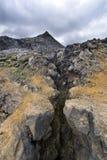 Fissure volcanique Photographie stock libre de droits