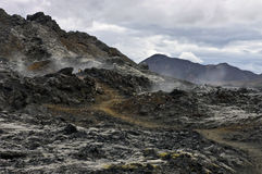Fissure volcanique active Image stock