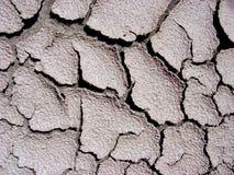 Fissures dans la boue Photo stock