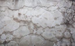Fissures dans un mur Images libres de droits