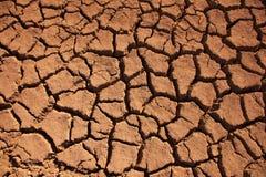 Fissures de boue Photographie stock