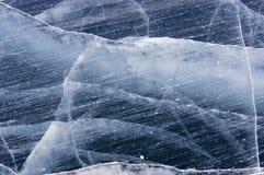 Fissures de glace Photos libres de droits