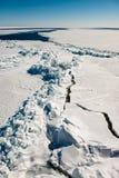 Fissures de glace en mer Photo libre de droits