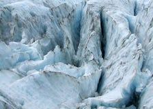 Fissures de glacier Photographie stock libre de droits