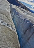 Fissures de glacier de Mendenhall Image stock