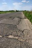 Fissures de route images stock