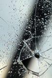 Fissures de trou d'hublot en verre photo libre de droits