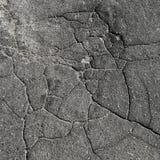 Fissures sur l'asphalte Photographie stock libre de droits