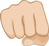 Fist. Illustration of a fist. Power symbol Royalty Free Stock Photography