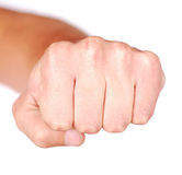 Fist. Isolated on white background Royalty Free Stock Photos