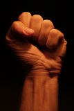 Fist. Close up shot of a clenched fist Royalty Free Stock Photo