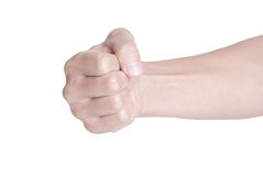 Fist. Isolated on white background Stock Photos