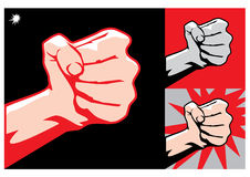Fist. Striking fist, symbol of revolutionaries Stock Image