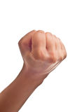 Fist. Female fist isolated on a white background Stock Image