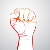 Fist. Illustration of a hand with clenched fist Royalty Free Stock Photography