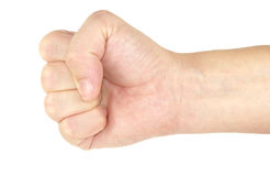 Fist. Tight fist isolated on white background Stock Images