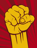 Fist. Shake a fist, power, resistance royalty free illustration