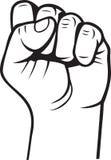 Fist. Black white fist illustration for your design Stock Photo