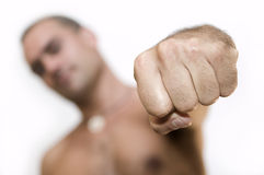 Fist. Close-up on a fist, shallow depth of field Royalty Free Stock Photo