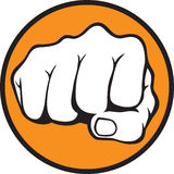Fist. Illustration for your design Royalty Free Stock Photos