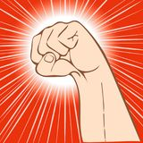 Fist abstract background Royalty Free Stock Photos