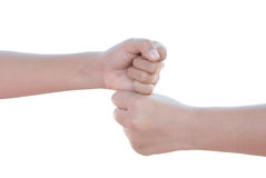 Fist against fist Royalty Free Stock Photos
