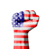 Fist of America (USA) flag painted Royalty Free Stock Image