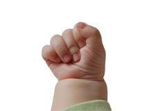 The fist of a baby Royalty Free Stock Images