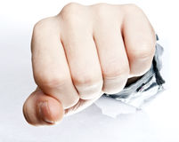 Fist broke paper Royalty Free Stock Photo
