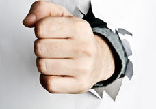 Fist broke paper Royalty Free Stock Photos