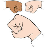 Fist Bump. An image of a fist bump handshake Royalty Free Stock Images