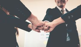 Fist bump in business meeting for team concept Stock Photography
