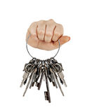 Fist with bunch of keys Stock Photography