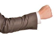 Fist businessman Stock Photography