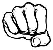 Fist Cartoon Comic Book Style Stock Image