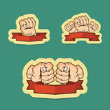 Fist cartoon illustration Stock Images
