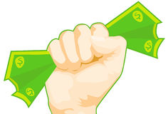 Fist of Cash. Image of a fist with cash royalty free illustration