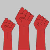 Fist. Clenched fist protest revolution strike meeting  vector Stock Photos