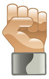 Fist clipart icon Stock Image