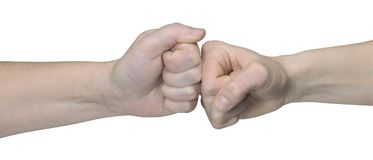 Fist confrontation Royalty Free Stock Photography