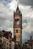 First Covenant Church Tower in Boston. Fist Covenant Church Tower in Boston, picture shot in 2018 royalty free stock image