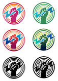Fist design. Illustration of fist with a round background Royalty Free Stock Photos