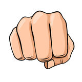 Fist. Draw a fist on white background vector illustration