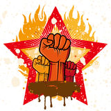 fist emblem Stock Image